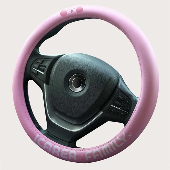 Letter Graphic Steering Wheel Cover *FREE ITEM*